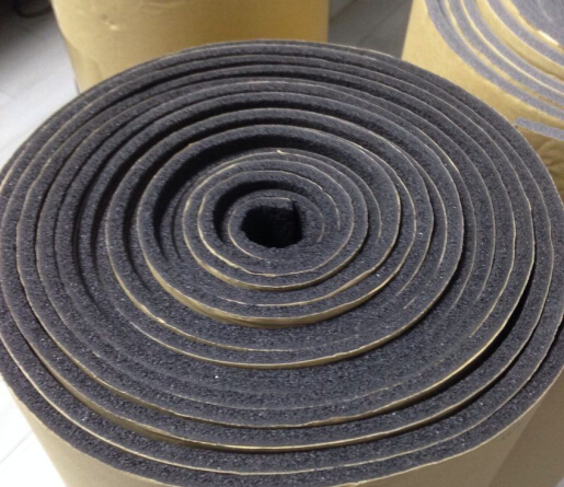 NBR foam roll with adhesive