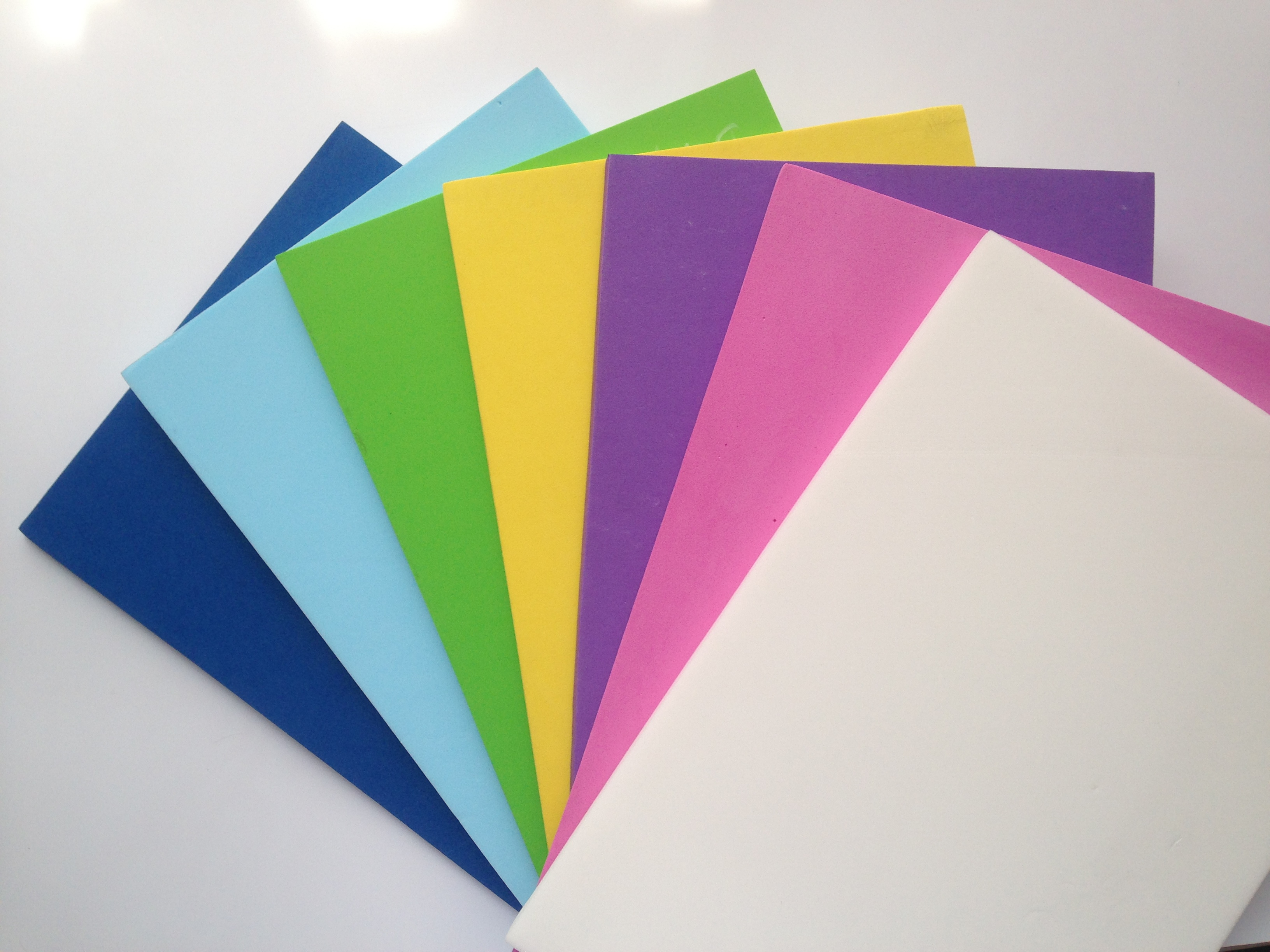 Colorful XLPE foam boards