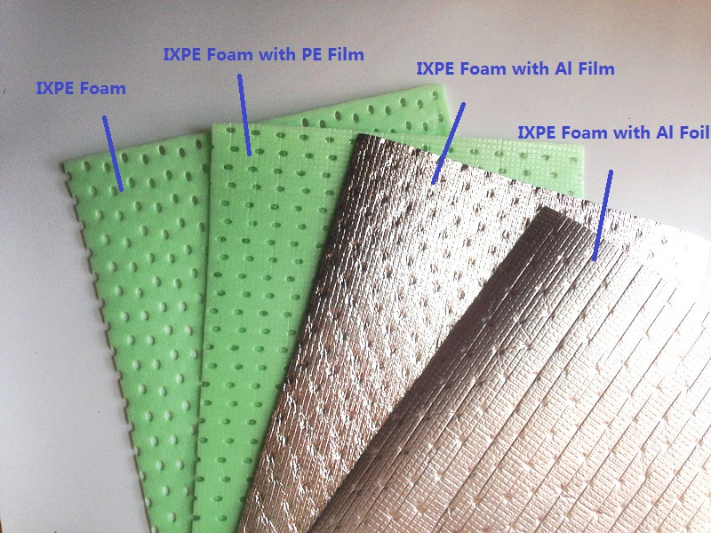 Various lamination on IXPE foam rolls
